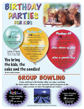 Birthday Party Information Sheet