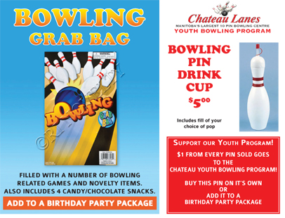 Bowling Grab Bag and Drink Cup